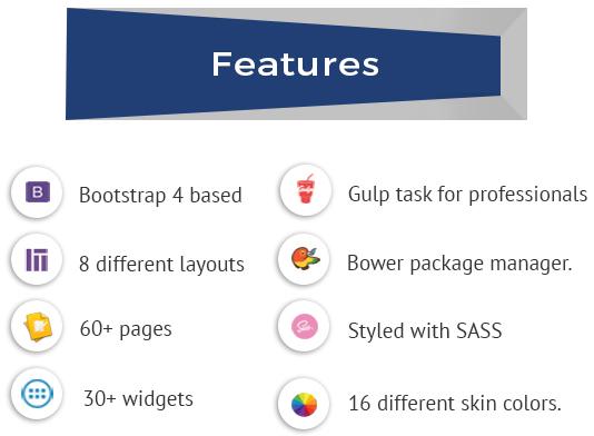 Admire - Bootstrap 4 Admin + Laravel Template - 3