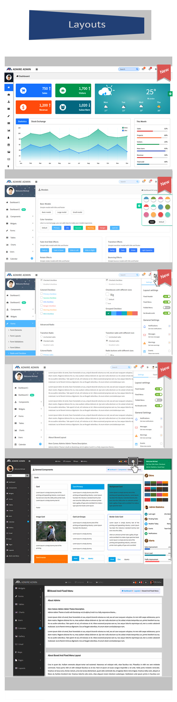Admire - Bootstrap 4 Admin + Laravel Template - 8