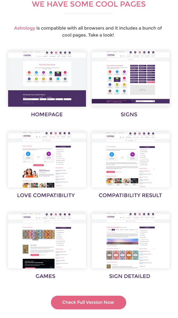 Astrology – Bootstrap HTML Template