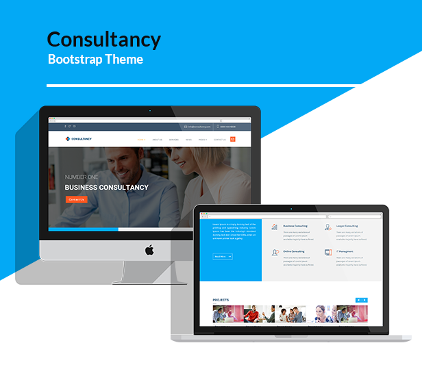 Consultancy - HTML Bootstrap Template - 1