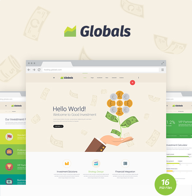 Globals - Material & Bootstrap HTML Template - 4