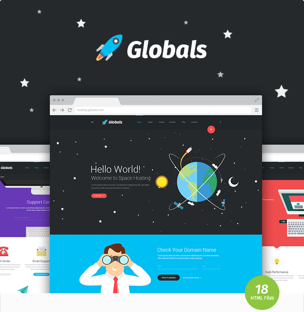 Globals - Material & Bootstrap HTML Template - 3