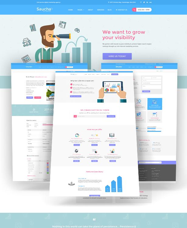 Saucha - Marketing & SEO Services Template - 1