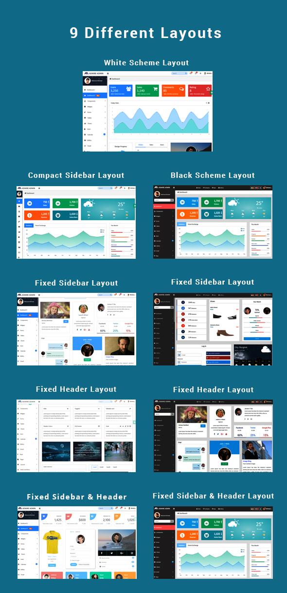 Admire - Bootstrap 4 Admin + Laravel Template - 1