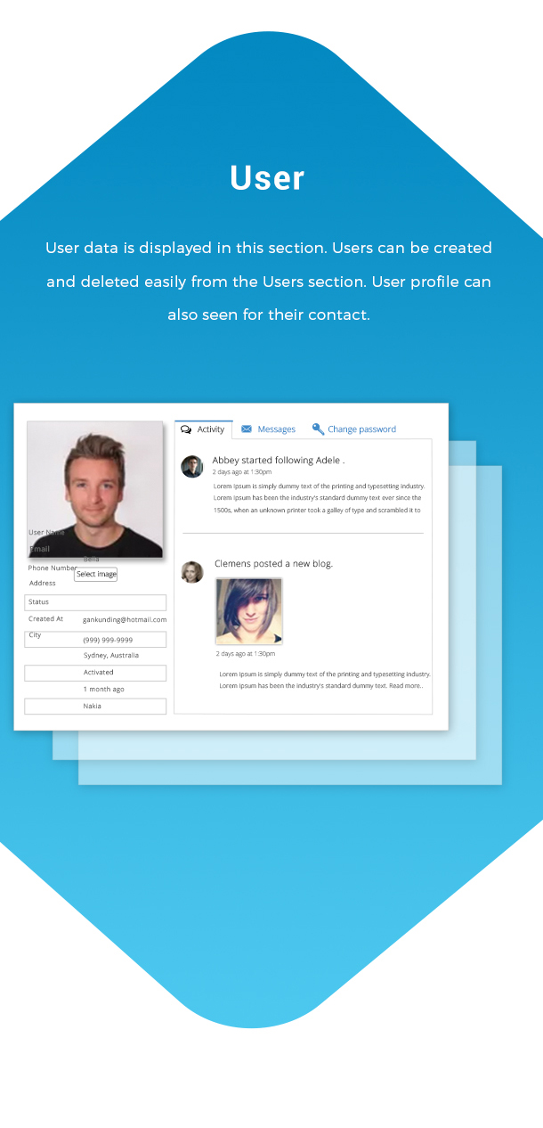 Josh - Laravel Admin Template + Front End + CRUD - 5