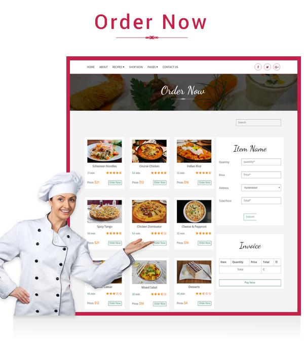 Precious Restaurant Template - 3
