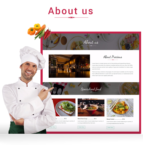 Precious Restaurant Template - 5